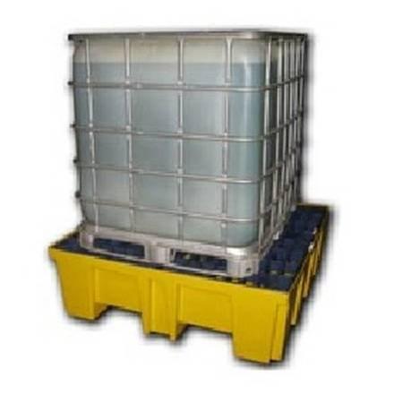 Paleta wanna wychwytowa, wysokoprofilowa, składowanie 4 beczki 200L lub pojemnik IBC/KTC, 510l (wymiary: 1320x1320x430 mm) 24878765