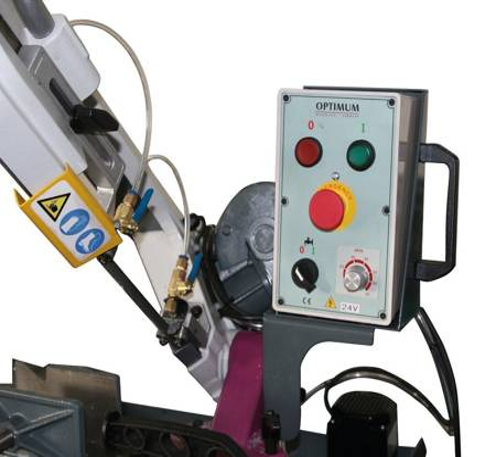 Przecinarka taśmowa ze skrętnym ramieniem Optimum 230V (wymiary taśmy tnącej: 1735 x 12,7 x 0,9 mm, moc: 1,1kW) 32277762