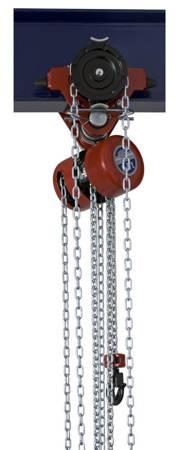 Wciągnik łańcuchowy przejezdny (wysokość podnoszenia: 3m, szerokość belki: 58-226 mm, udźwig: 1,6 T) 22077028