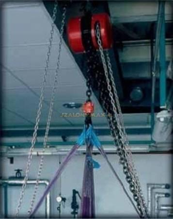 Wciągnik łańcuchowy z przekładnią planetarną (wysokość podnoszenia: 5m, udźwig: 1 T) 22076994