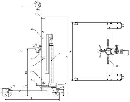 Wózek podnośnikowy ręczny do beczek (udźwig: 300 kg) 03015775
