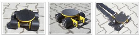 Wózek skrętny 4 rolkowy, rolki: 4x nylon (nośność: 4 T) 12235599