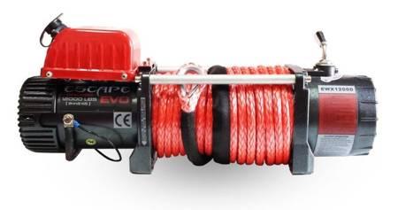 Wyciągarka Escape EVO 12000 lbs [5443 kg] EWX-U z liną syntetyczną 12V (lina: 10 mm czerwona dyneema 28m 10400kg +hak) 81877746