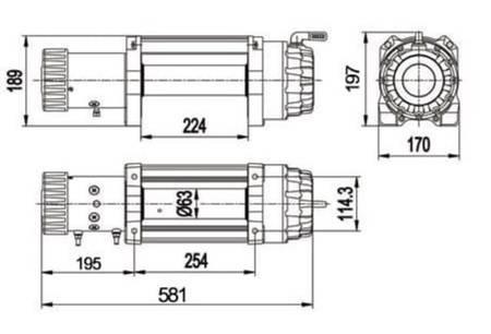 Wyciągarka Escape EVO 12500 lbs [5670 kg] IP68 z liną syntetyczną 12V (lina: 10 mm czerwona dyneema 25m 10400kg +hak) 81877749