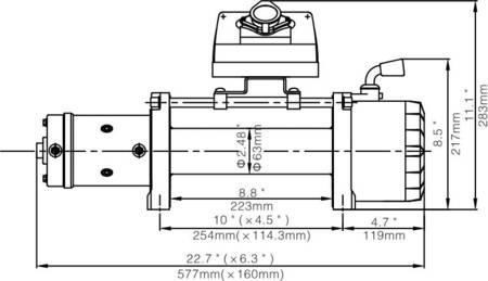 Wyciągarka Escape EVO 9500 lbs [4309 kg] EWX-QF 12V (lina stalowa: 9,2mm 26m) 81877714