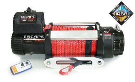 Wyciągarka Escape EVO 9500 lbs [4309 kg] IP68 z liną syntetyczną 12V (lina: 8 mm czerwona dyneema 25m+hak) 81877767
