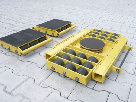 Zestaw wózków, rolki: 36x stal (nośność: 2x18 ton + 28 ton przód = 64 tony) 12235629